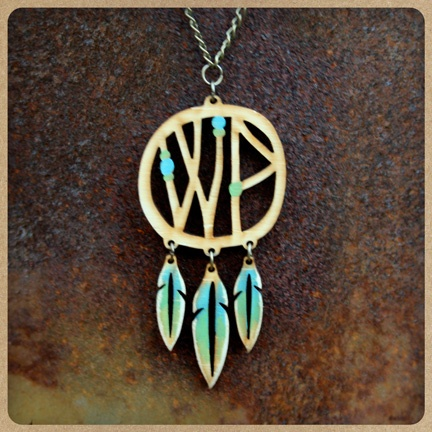 Widespread Panic Dreamcatcher Necklace - Handmade in Athens, Ga by Genevieve Gail Swinford