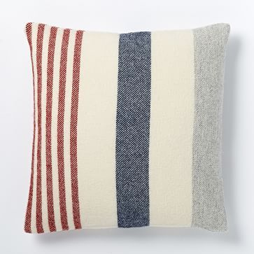 """Faribault American Stripe 20"""" wool pillow cover - Ivory (New Zealand wool). $79 at #westelm"""