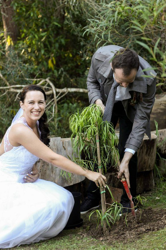 Our woodlands wedding <3 planting a tree