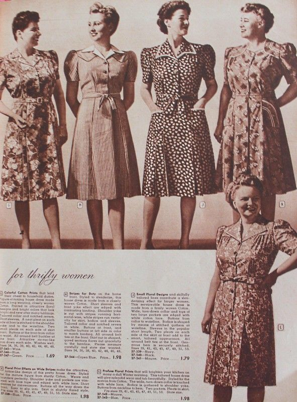 clothing colors in 1943   Plus Size Fashion Dresses in the 1940s photo picture