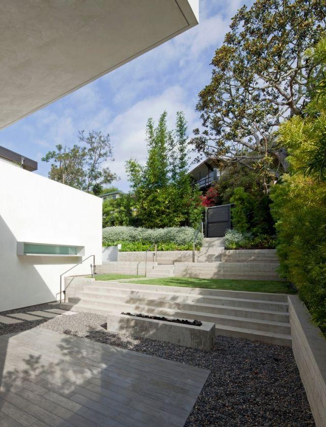 Fesselnd Vorgartengestaltung Mit Kies Setzt Moderne Häuser In Szene | Landschaftsbau  | Pinterest