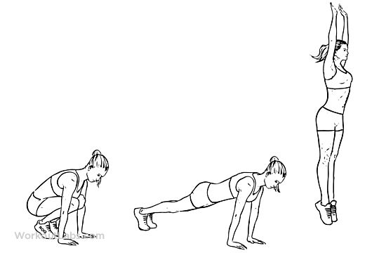 burpees    squat thrust