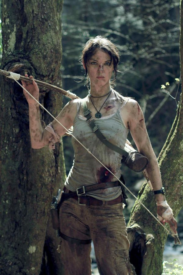 """First she was Vogue Loki, now The Lady Nerd (artist-model Briana Lamb) has been """"reborn"""" into the new Lara Croft."""