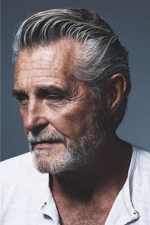 Natural Slick Back Hairstyle 35 Best Men S Hairstyles For Over 50 Years Old Latest Haircuts For Older M In 2020 Older Men Haircuts White Hair Men Older Mens Hairstyles