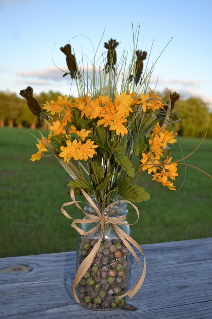 Jars Floral Arrangements And Masons On Pinterest