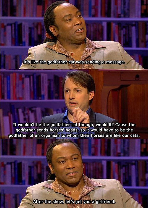 David Mitchell is so wonderful. Reginald D Hunter and David Mitchell on The Bubble.