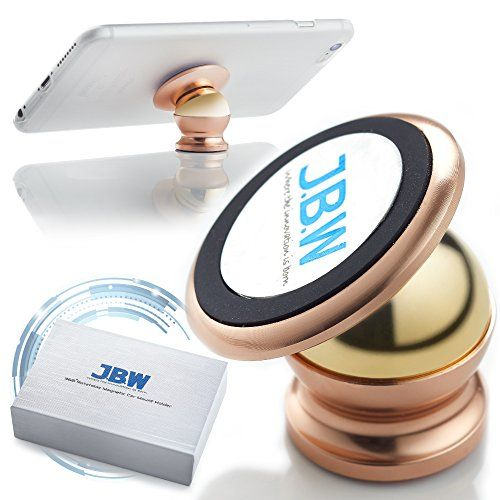 awesome Car Mount, J.B.W. Premium Magnetic Cell Phone Holder Cell Phone Car Mount Smartphone Holder 360 Degree Rotatable Cradle Mount Kit - Rose Gold