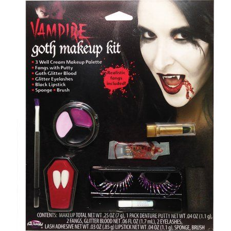 Gothic Kit Vampire Halloween Makeup, Silver   Walmart and Products