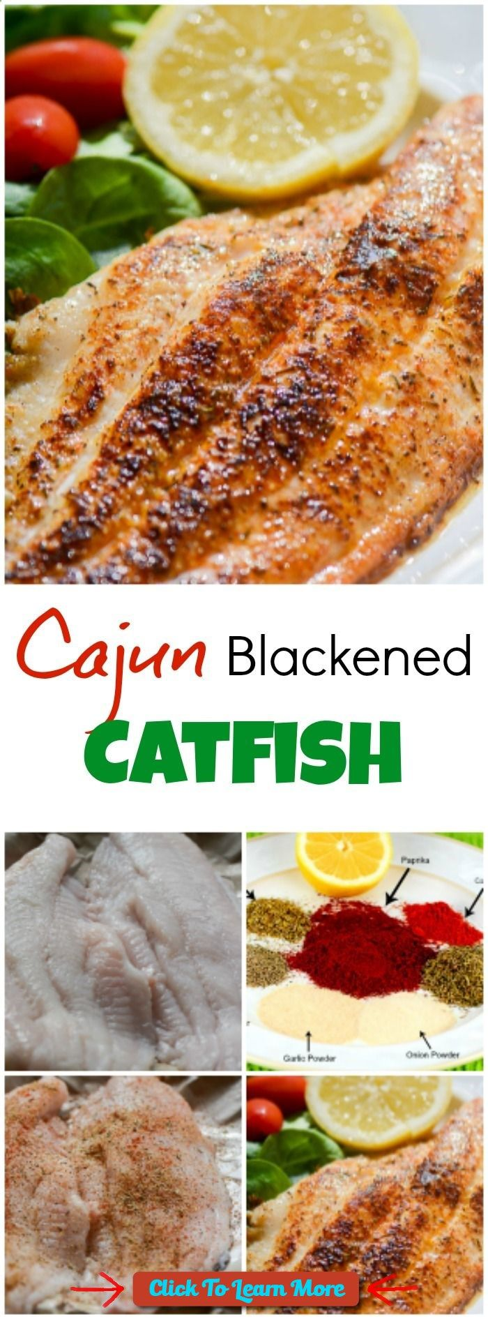 #FastestWayToLoseWeight by EATING, Click to learn more, Cajun Blackened Catfish is a quick and easy, healthy, delicious, spicy seafood recipe that makes an excellent weeknight supper, or Mardi Gras Dinner, and fits into most healthy eating plans, including low fat, low carb, gluten-free, and paleo. ~ FlavorMosaic.com , #HealthyRecipes, #FitnessRecipes, #BurnFatRecipes, #WeightLossRecipes, #WeightLossDiets
