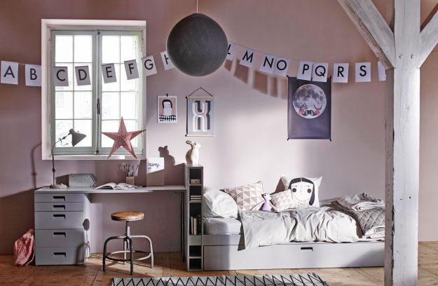 Store bed+matress drawer grey [fsc] (ex slats) | Beds | Kids | De Eekhoorn