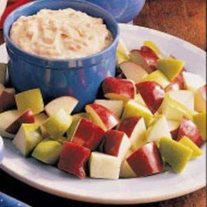 Apple+Brickle+DipHealth Food, Dips Recipe, Brickle Dips, Fruit Appetizers, Apples Brickle, Savory Recipe, Apples Drinks Recipe, Sweets Dips, Apples Dips