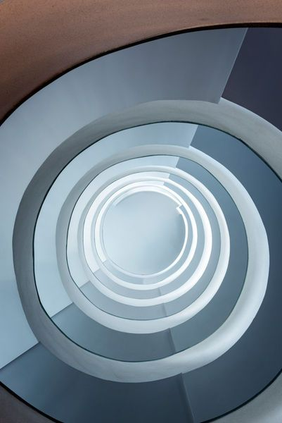 'Modern spiral staicase ' by Jacek  Kadaj on artflakes.com as poster or art print $18.03
