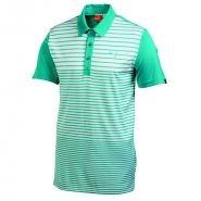 Puma Yarn Dye Stripe Mens Golf Shirt Bluebird