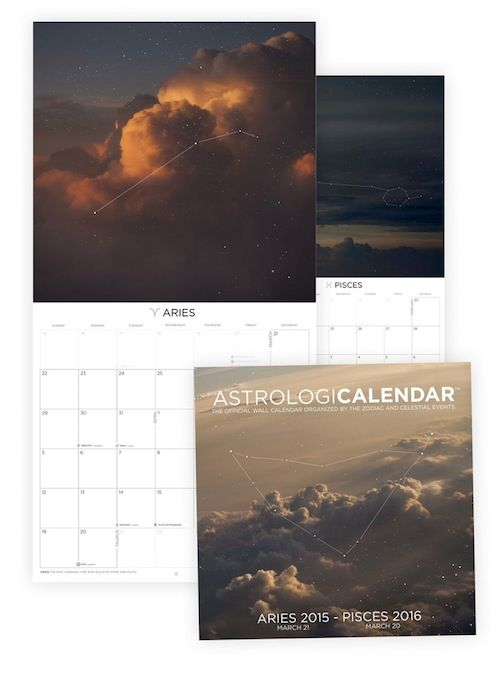 The Astrologicalendar is a beautiful wall planner that aligns with the movements of the zodiac. Rather than going by month, it moves in chronological order of each zodiac sign. For the true zodiac nerd! $19.99