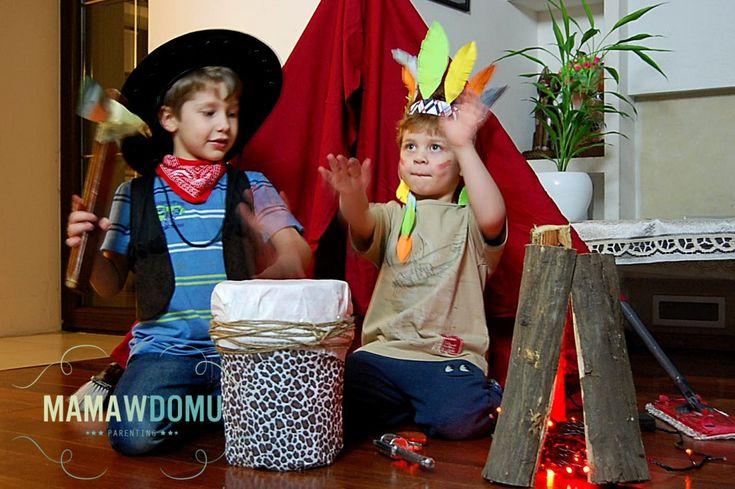 Domowa zabawa w Dziki Zachód. Indianin i Kowboj zapraszają do wspólnej zabawy!