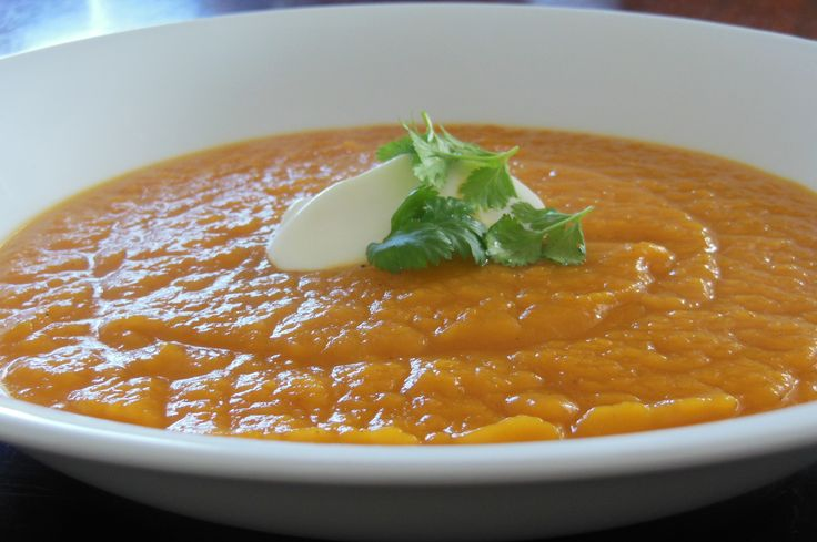 Kumara and Pumpkin Soup   Author: Vanessa Recipe type: Soup Save Print   The sun is out and Autumn is stunning but I am feeling the cold so a soup seemed like the perfect quick and easy lunch.  Heartwarming and comforting – this will also be great for dinner with some homemade garlic bread.