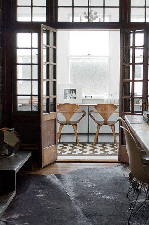 design interiors painting floors black white wooden doors floors - Home Again Design
