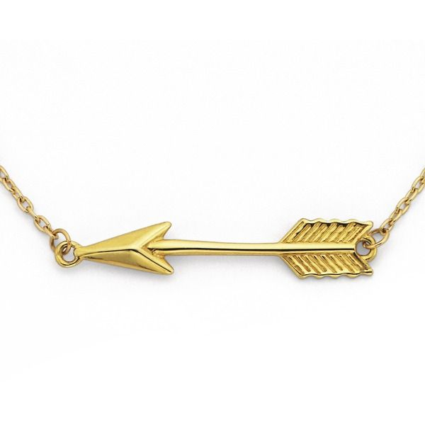Latest Trend 9ct Arrow Necklet! 42-48cm