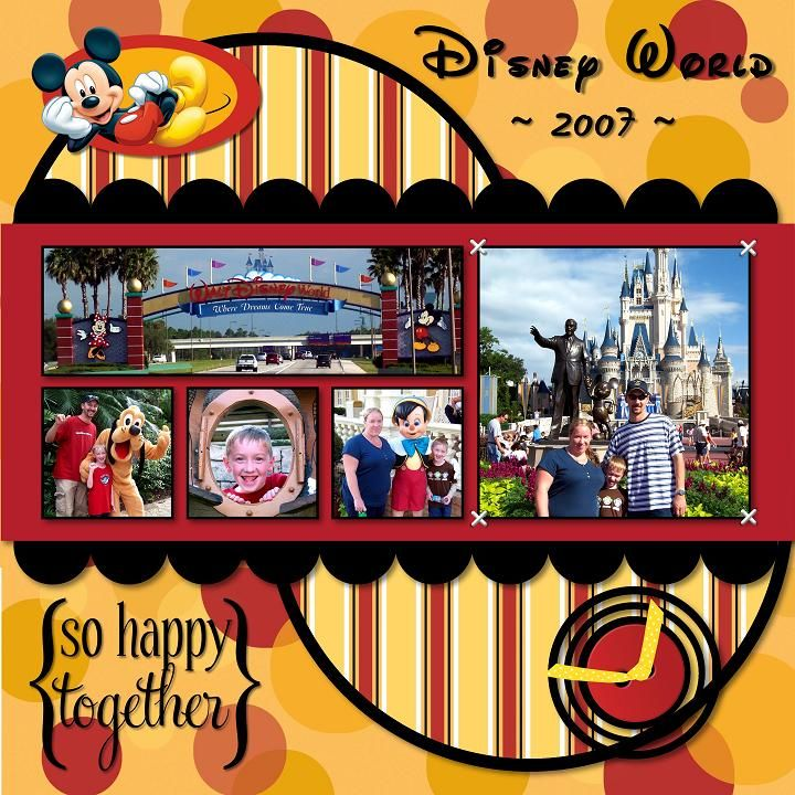 Free Disney Scrapbook Layouts   ... layouts. This layout could easily be made traditional scrapbook page