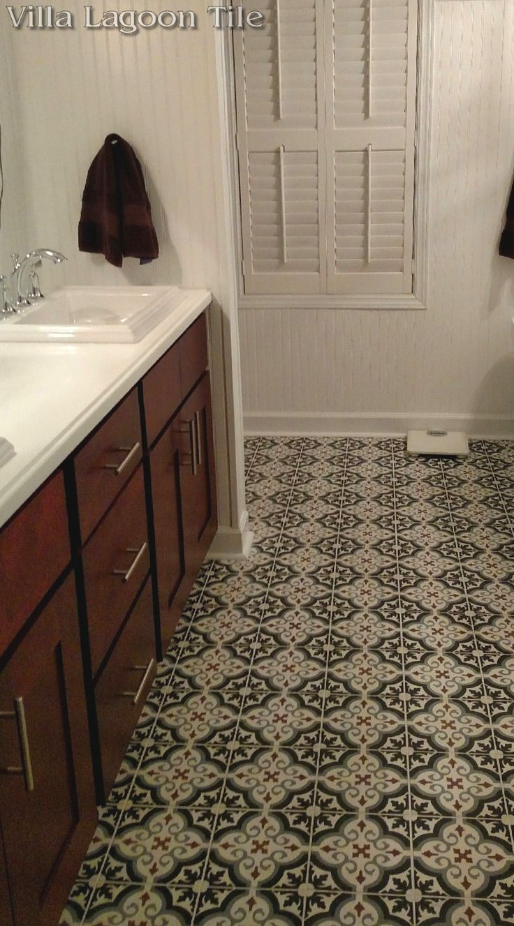 fiore winter cement tile bathroom floor from villa lagoon tile