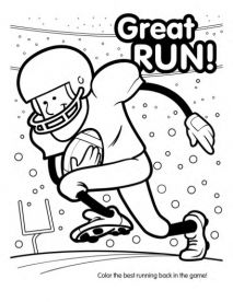 Super Bowl Football Coloring Book (10 pages) - Printable Super Bowl Games, Super Bowl Games for Kids