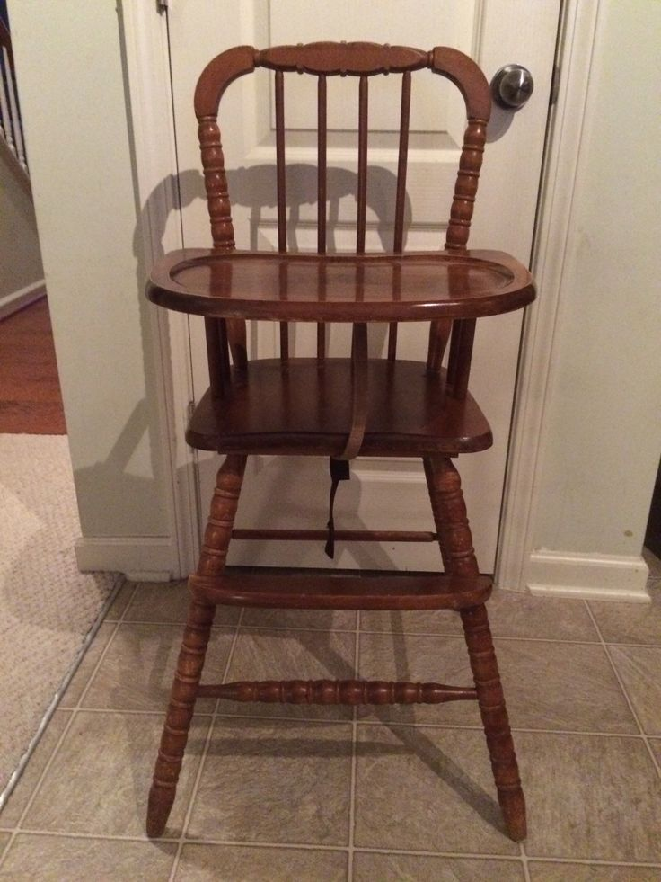 Vintage Wooden High Chair, Jenny Lind, Antique High Chair, Vintage High  Chair, - Best 25+ Vintage High Chairs Ideas On Pinterest Painted High