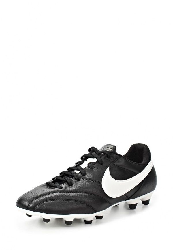 Бутсы Nike / Найк Цвет: черный. Материал: натуральная кожа. Сезон: Весна-лето 2014. С бесплатной доставкой и примеркой на Lamoda. http://j.mp/1nTJUVk