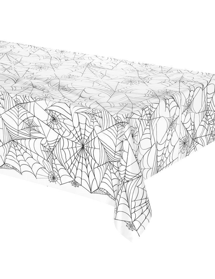Mantel de plástico tela de araña Halloween: Este mantel de plástico telaraña mide 137 x 274 cm. Es perfecto para decorar la mesa en la fiesta de Halloween.Unique party branding
