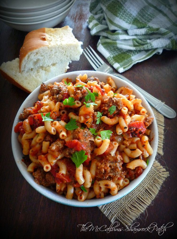 This delicious comforting dish named American Goulash, aka American Chop Soy, aka Beef and Macaroni, has simple, economical, filling ingredients such as lean ground beef, green bell peppers, tomato...