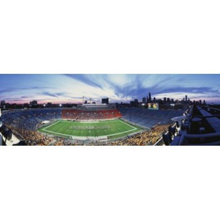 Soldier Field Football Chicago Illinois USA Canvas Art - Panoramic Images (36 x 12)