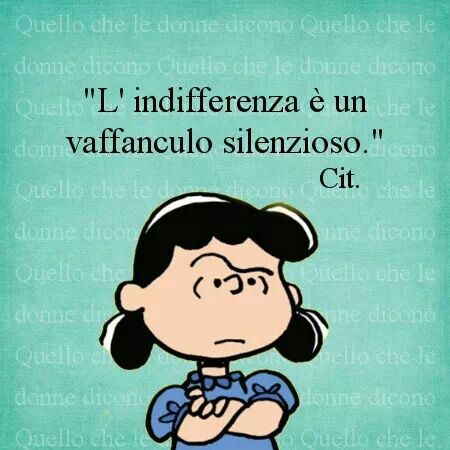 l'indifferenza è un vaffanculo silenzioso