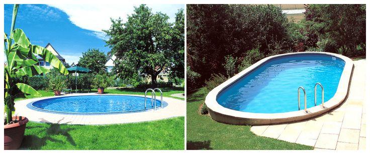 Kit piscine enterrée Sumatra acier ovale 600 x 320 x H120 cm Autour de 2000 €