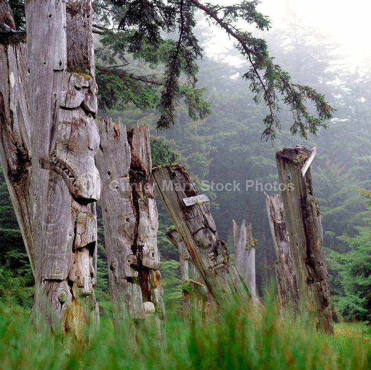 old totems at Haida Gwaii