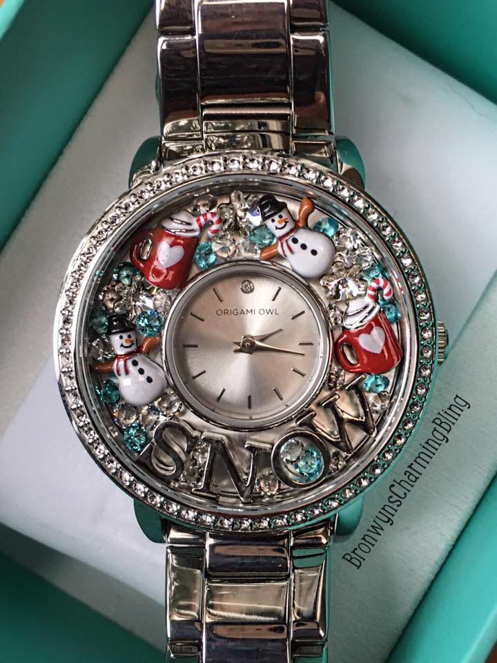 Let it Snow watch look from Origami Owl.  www.charmingsusie.origamiowl.com