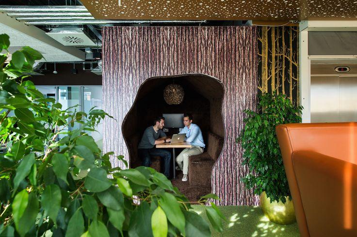 Google Campus Dublin | Gasworks - Informal Meeting Area - Floor Identity: Forests of the World #GoogleDublin, #Office, #WallGraphics