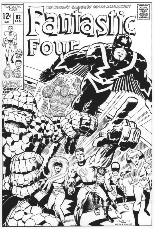 JACK KIRBY Fantastic Four 82 cover recreation, in GaryMartin's Recreations For Sale Comic Art Gallery Room