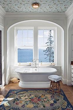 not bad!Reno Ideas, Guest Bathroom, Pennoyer Architects, The View, Dreams Bathroom, Beautiful Bathroom, Master Bathrooms, Hooks Rugs, Architecture Frames
