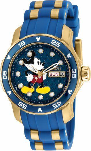Para las mujeres Invicta tenemos este modelo 23770 Disney Limited Edition, con 38 mm de diámetro, extensible de silicon y maquinaria de cuarzo. Pídelo en nuestra tienda online https://invictamexico.com/invicta-mujer-23770-disney-collection-reloj-acero-inoxidable-negro.html