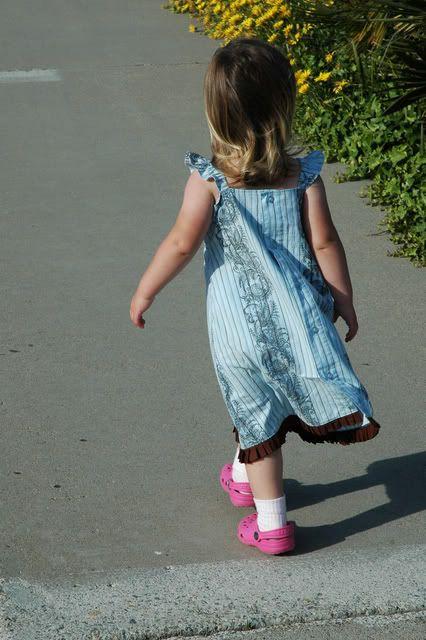 Another mens shirt to little girl dress tutorial