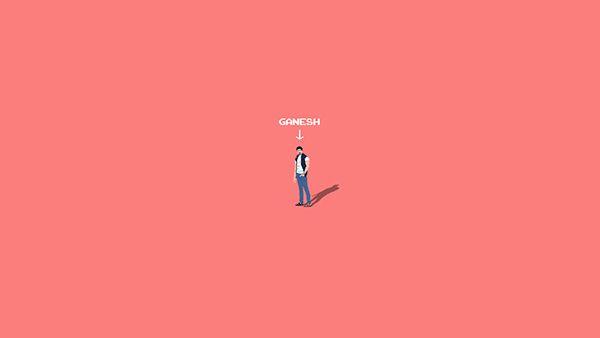 Pixel art of Ganesh
