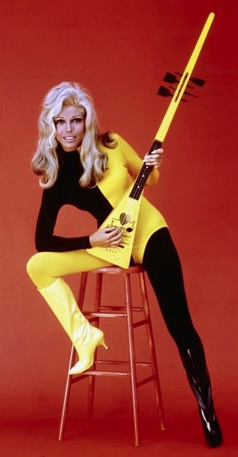 "Nancy Sinatra, the 60's when she did ""These Boots Were Made For Walking"""