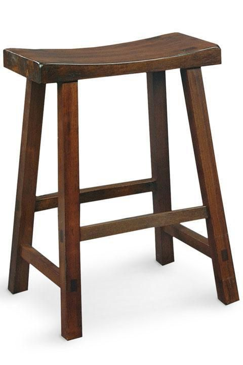 Counter stool has a casual style that can go from kitchen to workroom to recreation room - Saddle style counter stools ...