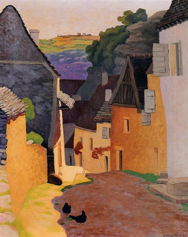 Rocamadour Landscape - Felix Vallotton , 1925