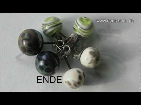 10 Paar Ohrstecker aus Chirurgenstahl! - All Beads Online Shop - Basteln Online Shop Kette Perle Armband Schmuck