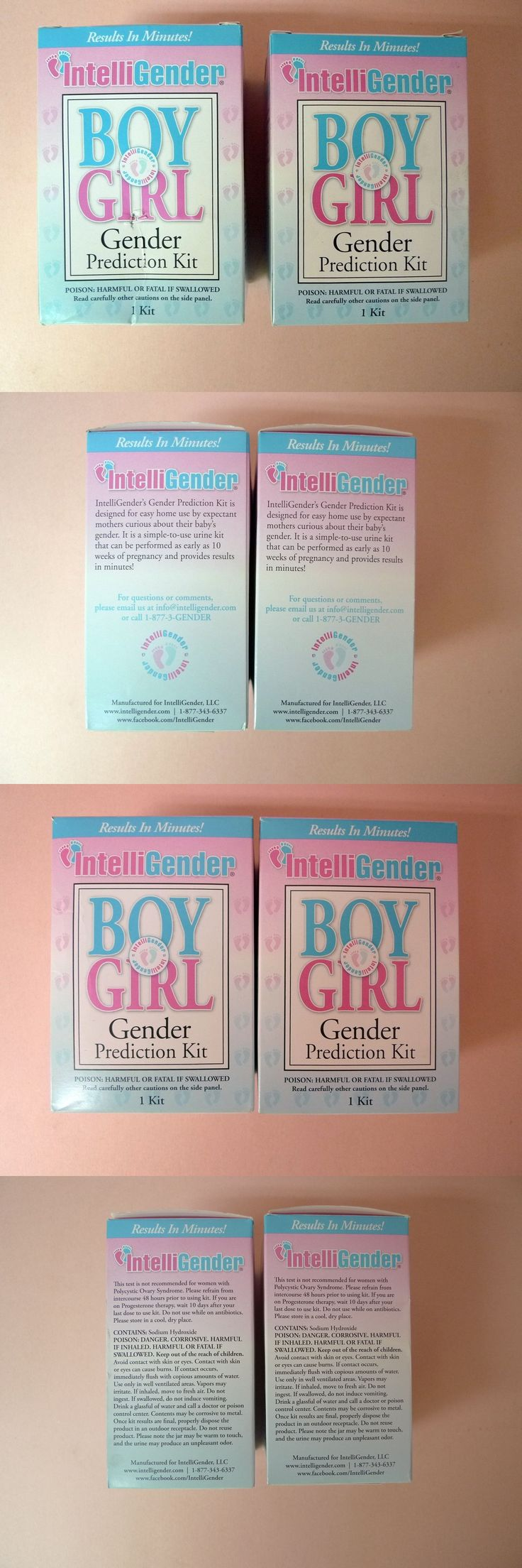Pregnancy Tests: Lot Of 2 New Intelligender Boy Or Girl Gender Prediction Test Kits -> BUY IT NOW ONLY: $46.95 on eBay!