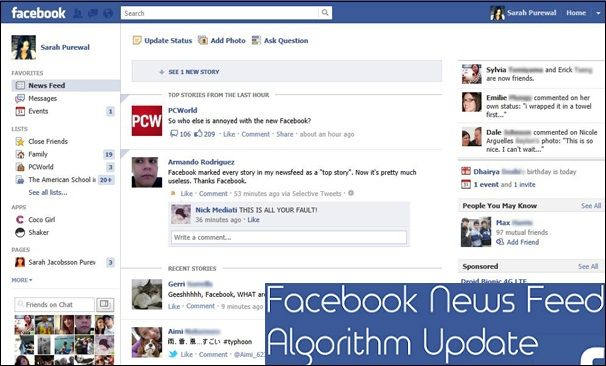 Facebook Updates its Algorithm for News Feeds