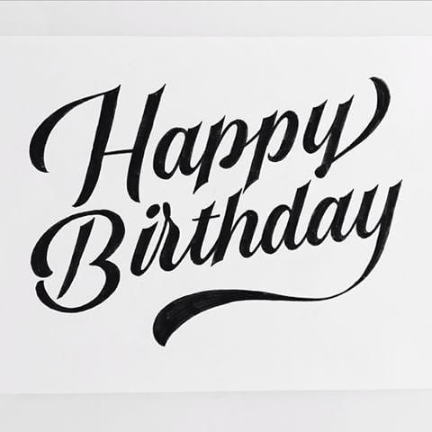 Happy Birthday to me! 🎂 Уже несколько лет подряд первым делом в свой день рождения рисую себе буквы #letters #lettering #thedailytype #typeverything #goodtype