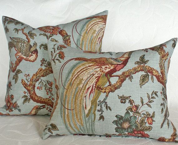 Peacock Decorative Throw Pillows, Large Cushion Covers