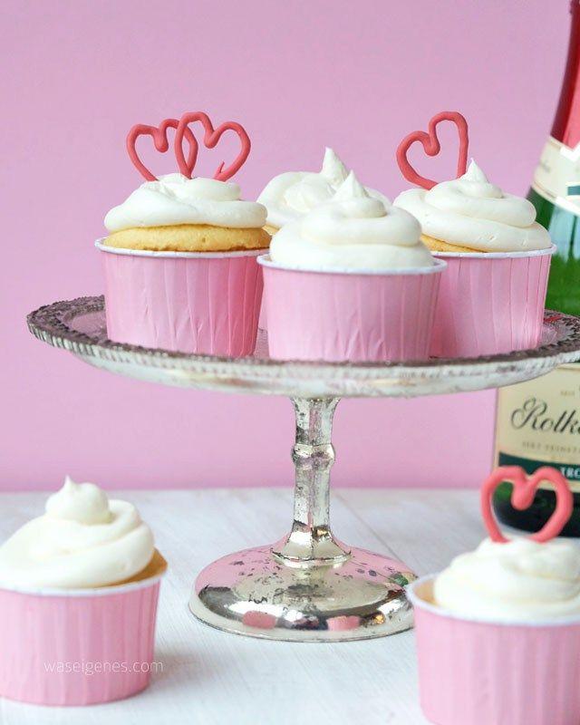 Rezept Holunder Sekt Cupcakes   waseigenes.com