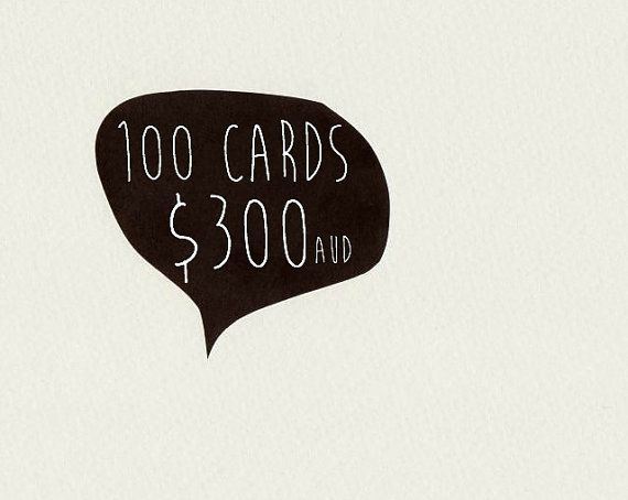 100 CARDS . choose 100 cards . greeting card . by ThePaisleyFive